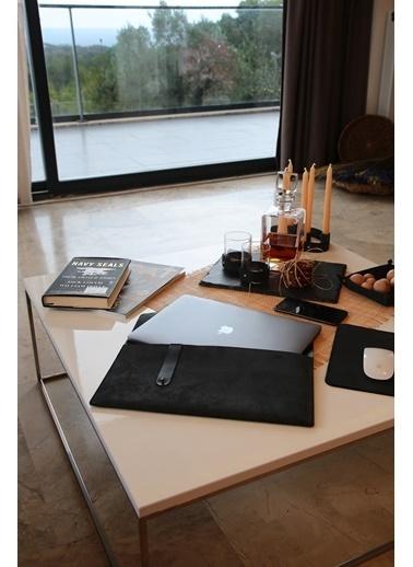 """Maxmillen Luxury Soutis Deri Macbook Çantası - 16"""" - Siyah Renkli"""